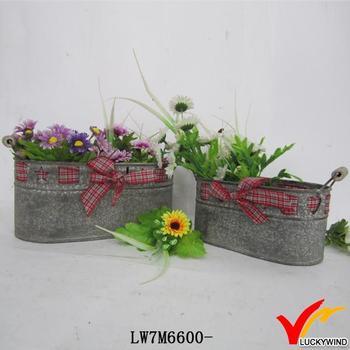 shabby chic zinc garden flower pot planter, View zinc flower pot ...