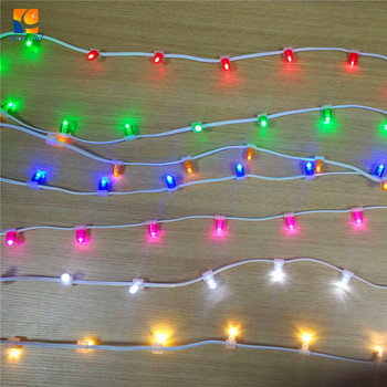 ip 44 warm white pvc crystal wire led tree decoration led clip bud light for christmas