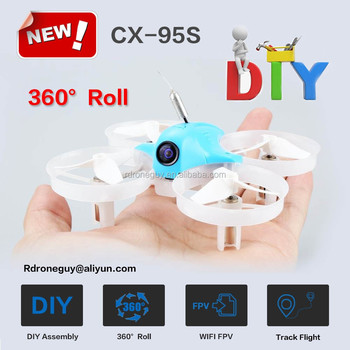 New product 2018 diy mini toys drone CX-95S with wifi fpv camera and 360 degree roll like phantom drone