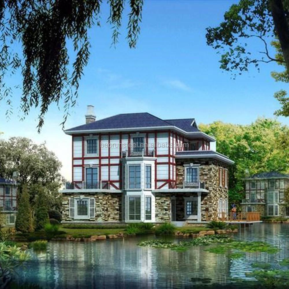 prefabricados villa de lujo casa chalet prefabricado