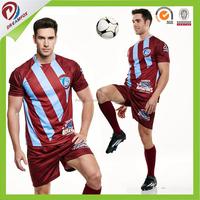 wholesale football uniforms OEM football shirt custom design sublimated soccer jersey team set for kid