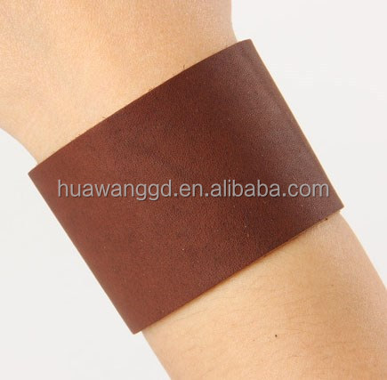 Brown plain genuine leather bracelets bangles bangle bracelet leather cuff bracelet