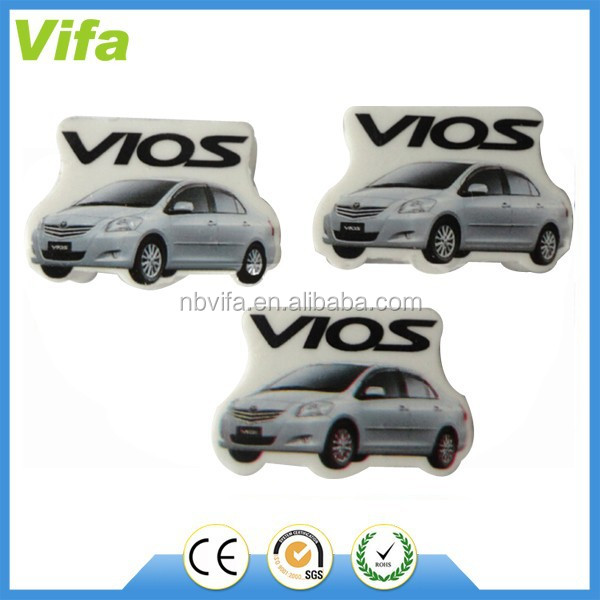 customized car shaped eraser for promotion
