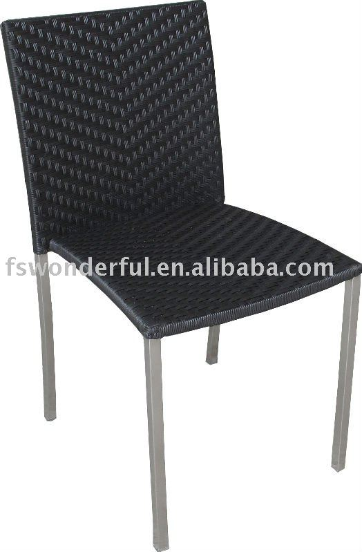 WF-2009 outdoor wicker chair with stacking