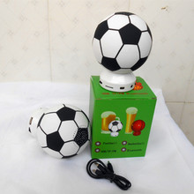 AL-Q87 Promotional!! hot selling 2018 world cup gift wireless mini 3w football soccer ball speaker with TF card