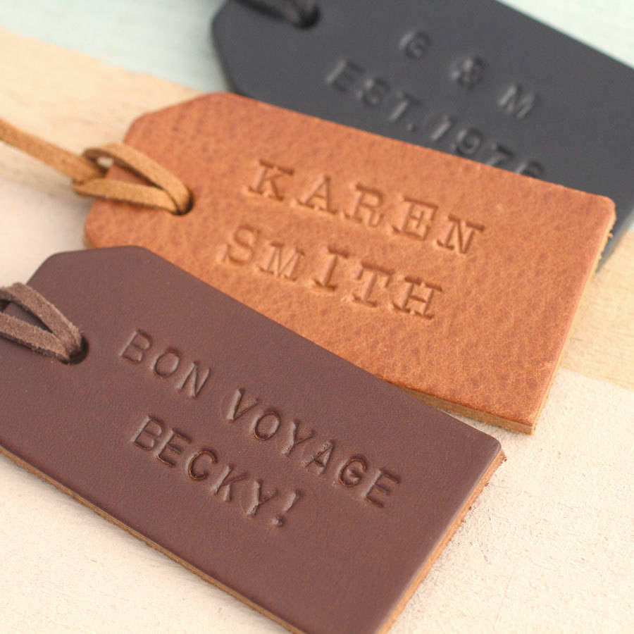 Leather Luggage Tags Wedding Favor, Leather Luggage Tags Wedding ...