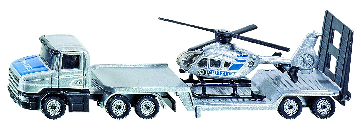 Siku Low Loader With Helicopter