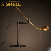 antique industrial style wall mount desk lamp