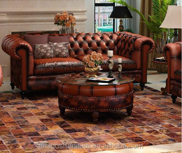 Contemporáneo Almacenamiento De Muebles De Cuero Mesa De Café ...