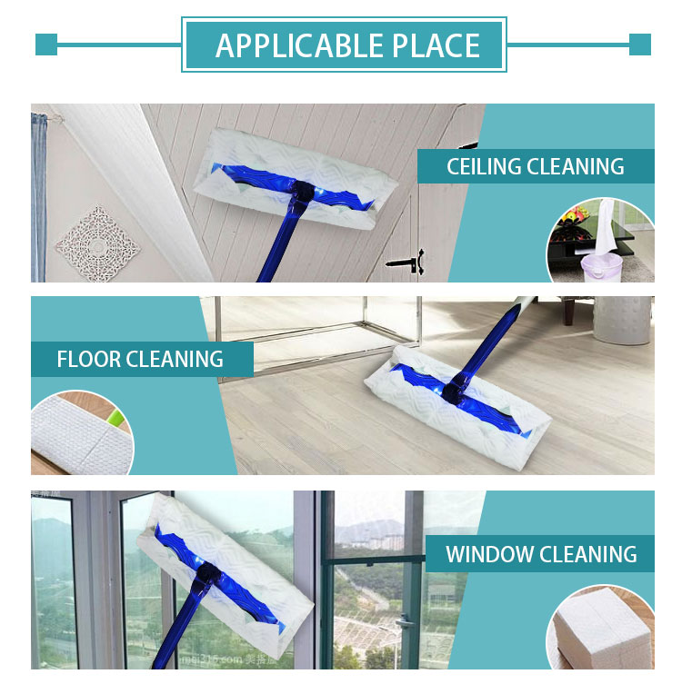 Sweeping pad refills mops with disposable floor cleaning cloth disposable wipes