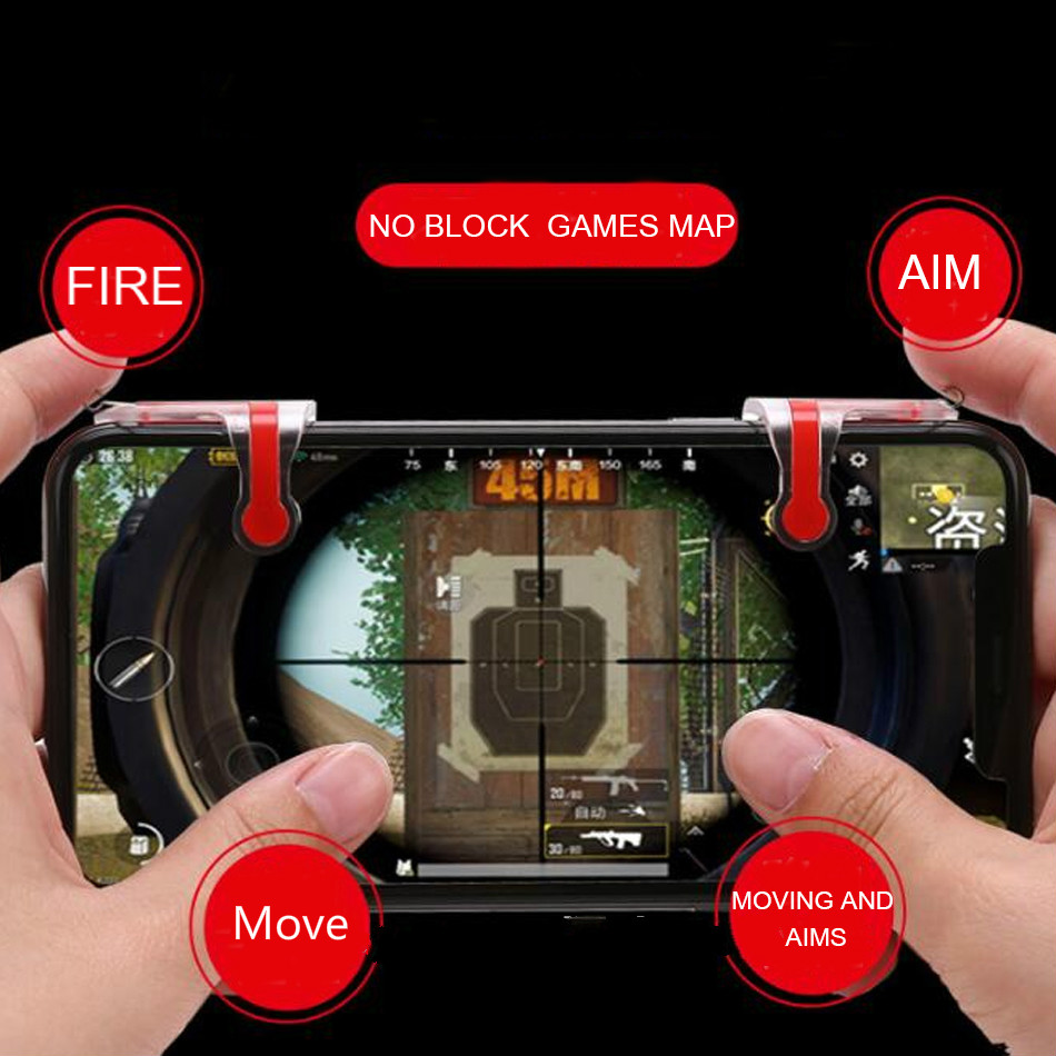 Newest MN PUBG fire key Mobile Game Shooter Controller Fire Button Aim Key Smart phone Mobile Gaming Trigger L1R1