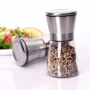 Stocked,SPICE,dry mushroom,Eco-Friendly Feature and Salt & Pepper Mills Mills Type Salt and Pepper Shakers with Matching Stand