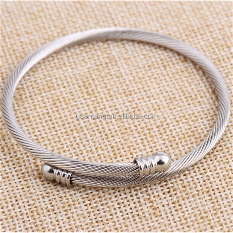 Hot selling stainless steel wire bangle simple creative rose gold bracelet