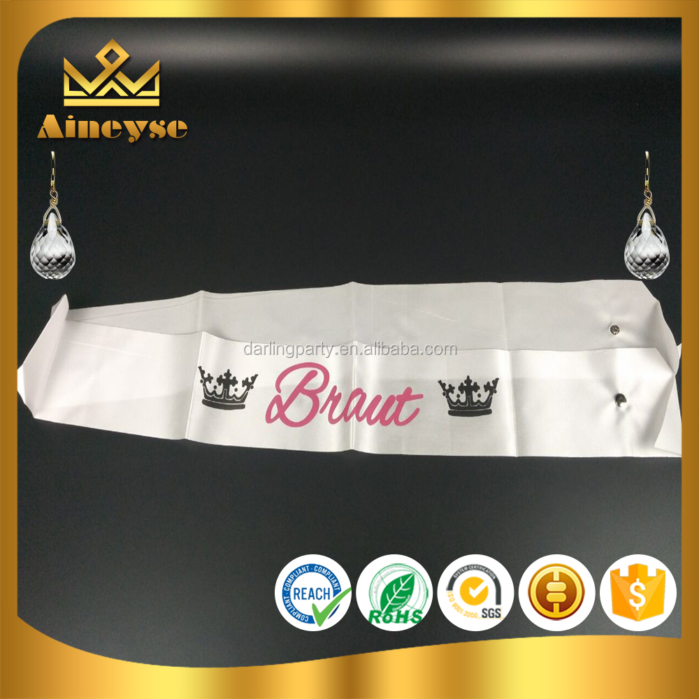 Wholesale Party Satin Pageant Sashes
