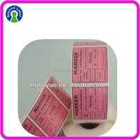 Alibaba Lowest price customized Supermarket adheisve printing labels sticker roll