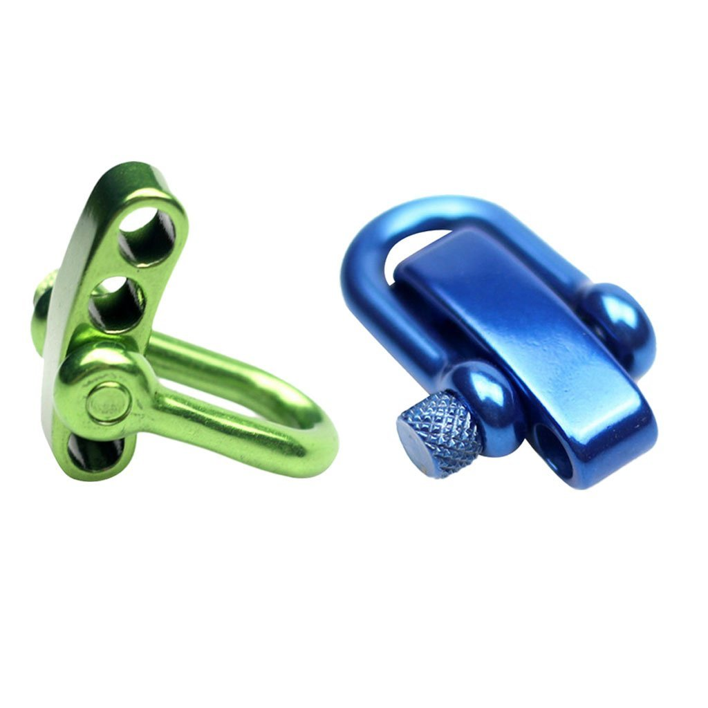 Homyl 2 Pieces Stainless Steel U shaped Adjustable Anchor Shackle with 4 Holes for Paracord Bracelets