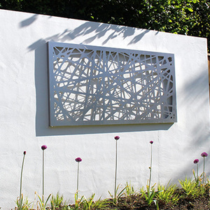 cut out metal panels aluminum laser cut outdoor metal screen for fence or dividers