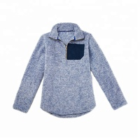 Wholesale women solid monogrammed frosted sherpa fleece pullover