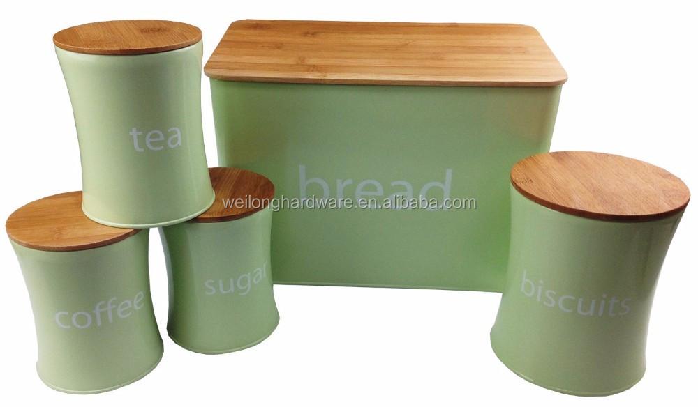 3 pièces Bidon Set sucre café thé de Rangement Cuisine Pots NEUF