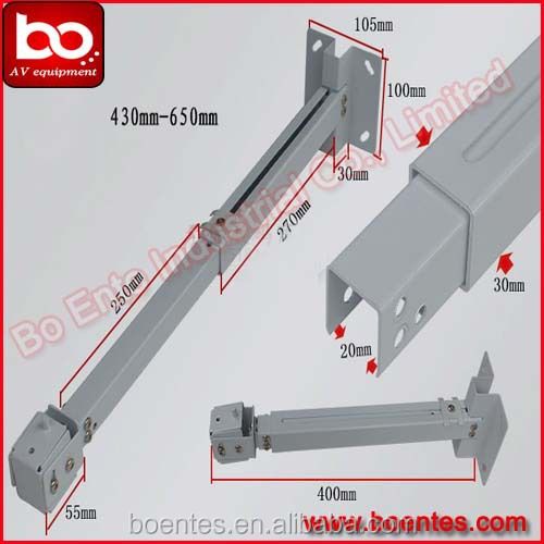 Aluminum Alloy Retractable Projector Ceiling Mount Bracket BM4365 For  Projector Support