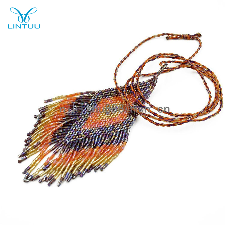 Fashion designs jewelry women seed bead necklace wholesale