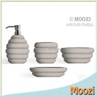 Modern Bamboo Like Finish Bath Set,Polyresin Spa Bath Set,2016 Bath Sets Shower Set