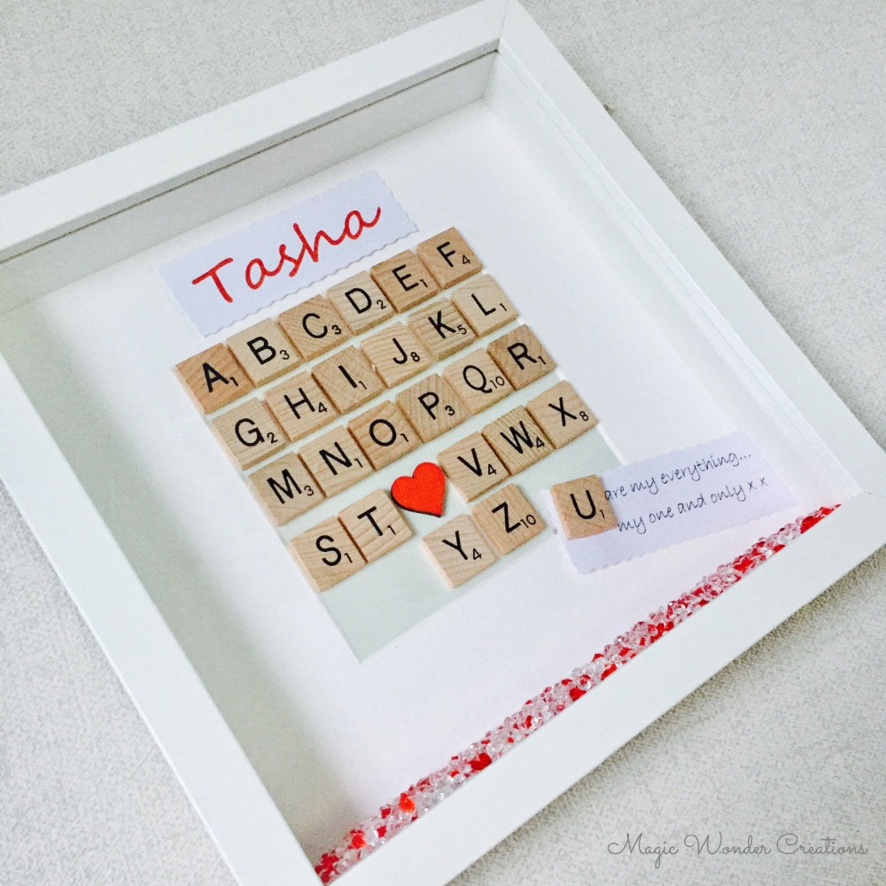 Meaningful Father's Day scrabble photo frame gift