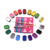 18 Best color halloween makeup body face paint Makeup kit for kids professional