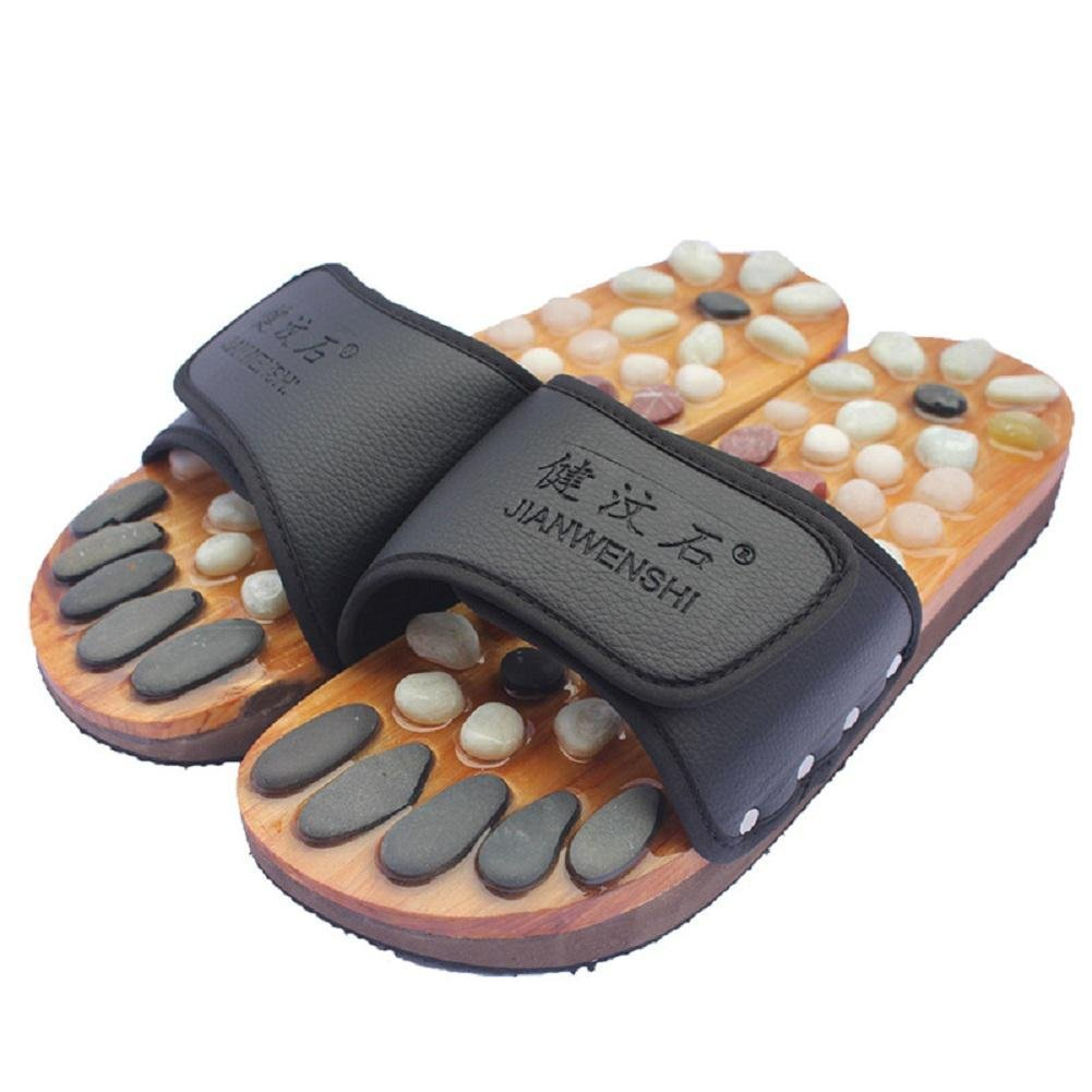 Healthcare Natural Cobblestone Foot Massage pebble massage slippers plantar acupuncture points Shoes , 36