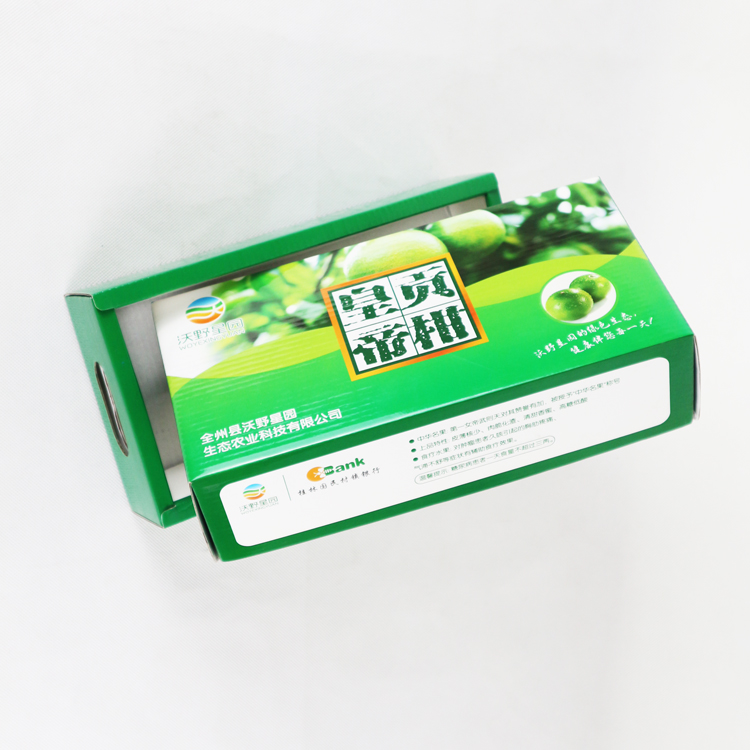wholesale factory custom corrugated subscription cardboard paper packaging orange fruit carton box