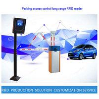 Automatic Vehicle Parking Lots Management Solution Barrier Gate Open/Close Bluetooth Long Range UHF RFID READER