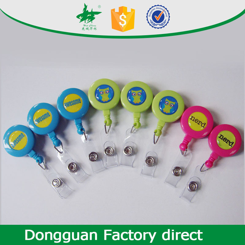 blank light retractable yoyo badge reels for promotion