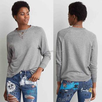 Women Long Raglan sleeves Crewneck custom streetwear Brand SWEATSHIRT 7a512e6c02