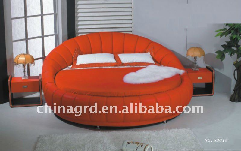 Comfortable soft circular bed