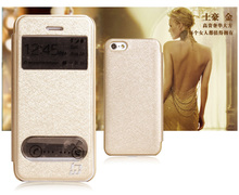 Popular Silk Pattern PU Leather Mobile Phone Case for iPhone 5C
