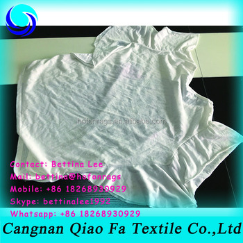 White Used Clothes Half Cut Cotton Wiping Rags/ T Shirt Used For ...