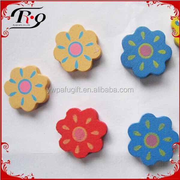 party favors baby shower supplies flower shape wooden decoration