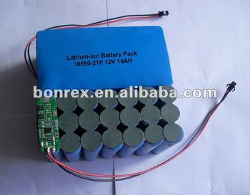 Li-ion 18650 12v 14ah Pcb Protected Rechargeable Battery Pack ...