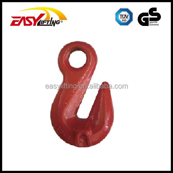 G80 Eye Hook Carbon Steel Forged Crane Lifting Grab Hook with CE certification
