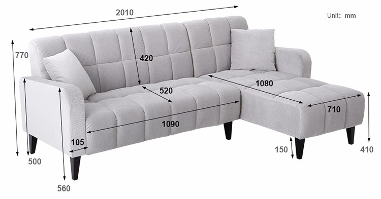 Size of sofa set sofa menzilperde net for What size sectional for my room