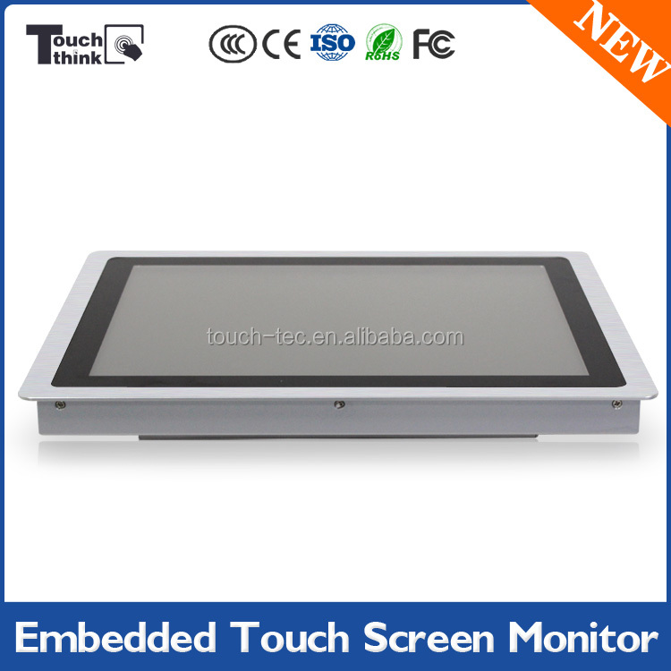 12 inch digital advertising, touch screen monitor with projected capacitive touch