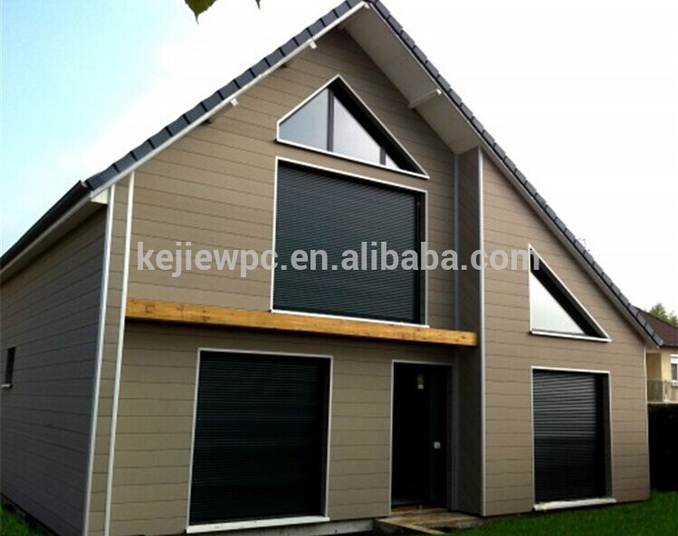 Anti uv wood plastic composite wall cladding wpc tiles - Exterior plastic cladding for houses ...