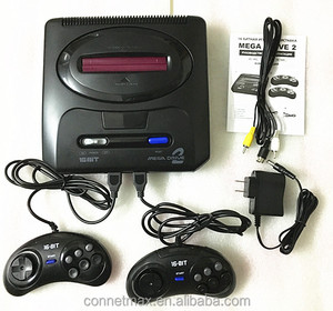 16 bit SEGA MD2 Video TV Game Console with US and Japan Mode Switch, Free 105 in 1 game cartridge for everdrive sega