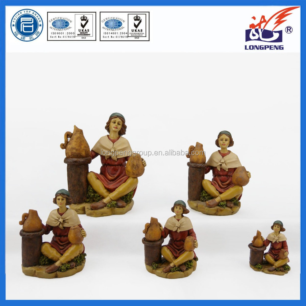 Custom 3D Polyresin Artists Figurine,Resin Pottery Makers