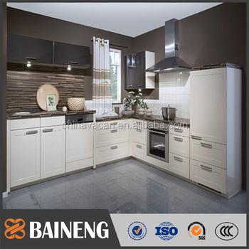 Modular Pvc Membrane Cabinet Door With Shake Style China Kitchen
