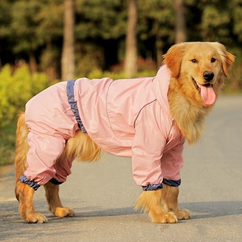 custom high quality waterproof large dog rain coat