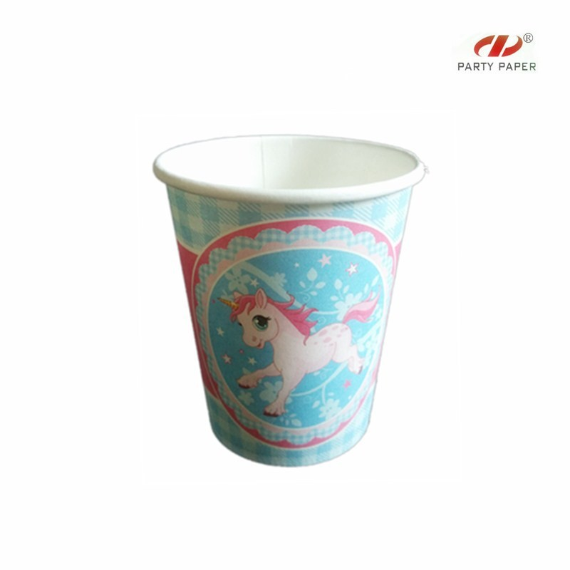 Lovely disposable wholesale cartoon kids party fancy coffee cups