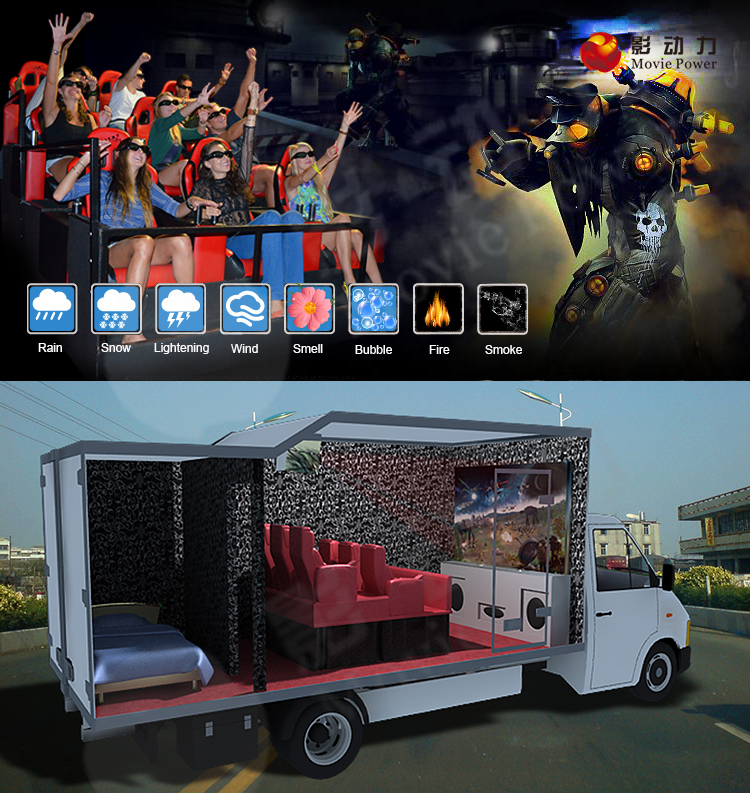 Top Sale This Year VR Most profitable business professional 9D cinema chairs prices truck mobile 5D cinema virtual reality chair