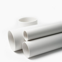White Plastic 12 16 20 inch diameter pvc pipe for water supply and drainage