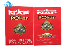for entertainment 100% plastic playing card new design poker and playing card